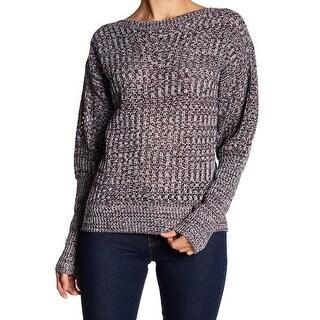 John + Jenn White Womens Marled Knitted Sweater