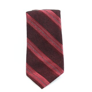 Calvin Klein NEW Red Traditional Woven Striped Men's Neck Tie Accessory