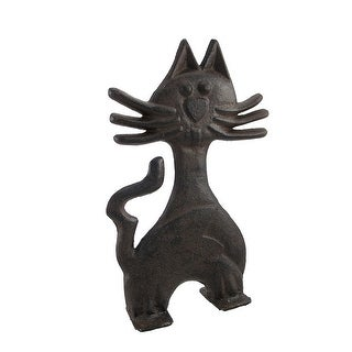 Cast Iron Kitty Cat Door Stop 11 In.