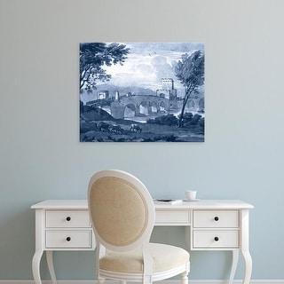 Easy Art Prints Claude Lorrain's 'Pastoral Toile III' Premium Canvas Art