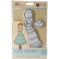 Julie Nutting Mixed Media Cling Rubber Stamps-Annie
