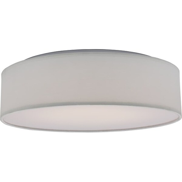 Nuvo Lighting 62 990 Single Light 15 Wide Integrated Led Flush Mount Drum Ceiling