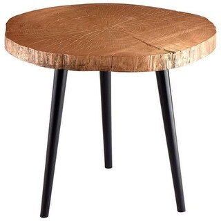 Cyan Design Timber Side Table Timber 27.25 Inch Diameter Wood Side Table