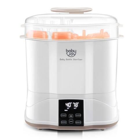 Costway Baby Bottle Electric Steam Sterilizer Dryer Machine Warmer - White