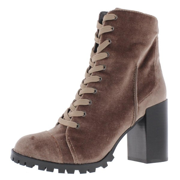 Womens Ambrose Velvet Lug Sole Casual Boots