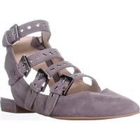 Dolce Vita Elodie Gladiator Buckle Sandals, Smoke Suede - 9 us