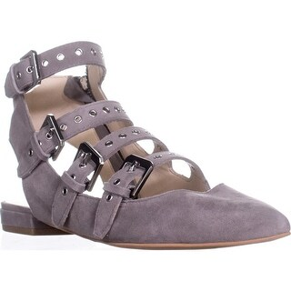 Dolce Vita Elodie Gladiator Buckle Sandals, Smoke Suede - 9 us