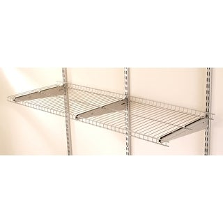 "Rubbermaid FG5E2102S  FastTrack 48"" Long Wire Shelf - Satin Nickel"