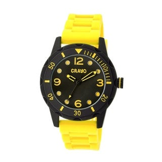 Crayo Splash Unisex Quartz Watch, Silicone Strap