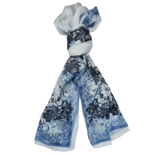 Valentino VS7018 6681 Col.4 Blue Floral Silk Ladies Scarves