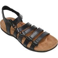 Minnetonka Women's Ballard Ghillie Sandal Black Leather