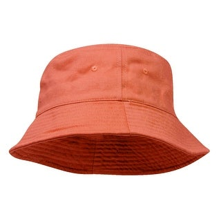 Pigment Dyed Bucket Hat-Orange