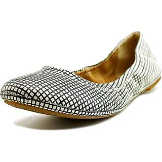 2f2620d5f Lucky Brand Emmie Women Round Toe Leather White Ballet Flats (Option  9)