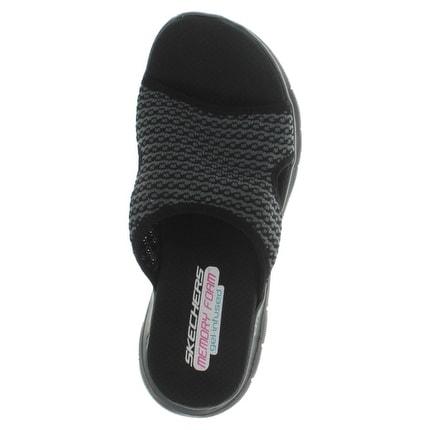 Skechers Flex Appeal 2.0 Women's Knit Slide Sandals