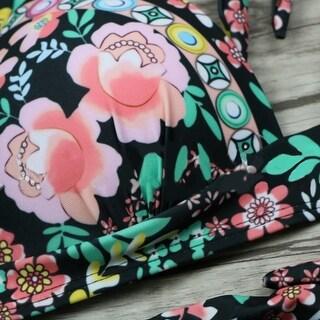 Link to Summer Women's Floral Print Underwire Bra + High Waist Briefs Bikini Set Swimsuit Similar Items in Women's Surf & Swim Clothing