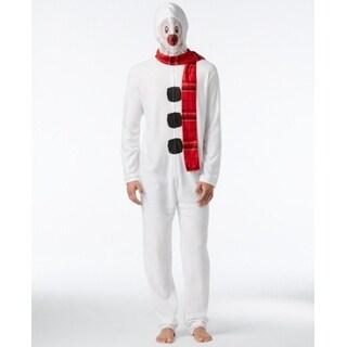 AMERICAN RAG NEW White Mens Size Large L Snowman 1-Piece Pajamas
