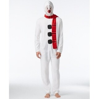 AMERICAN RAG NEW White Mens Size Medium M Snowman 1-Piece Pajamas