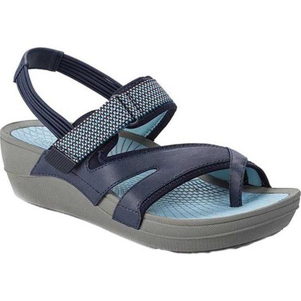 Shop Bare Traps Women S Brinley Wedge Sandal Navy