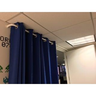 Pinnacle Barricade Adjustable Energy Saving Wraparound Curtain Rod 52 to 96-inch Length - 96