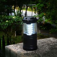 Set of 2 Portable 30 LED Outdoor Camping Lantern Collapsible Flashlight Lamp