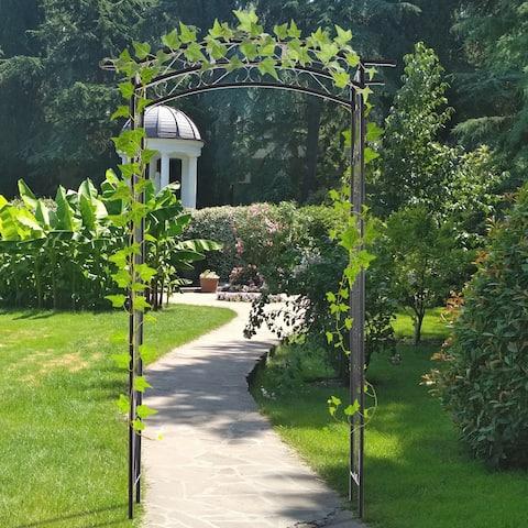 Pebbleton Scrollwork Garden Arbor & Trellis Arch by Havenside Home