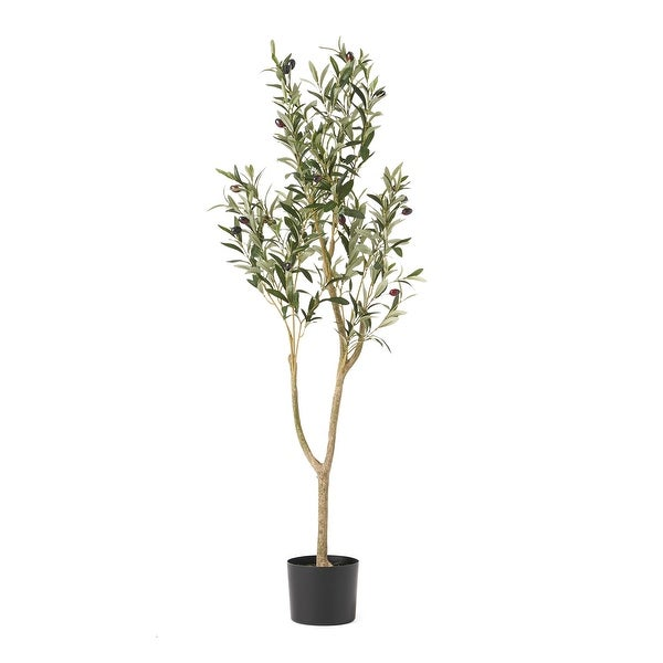 Taos 4' x 1.5' Artificial Olive Tree by Christopher Knight Home. Opens flyout.