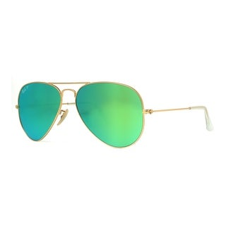 aviator ray ban sale  Ray-Ban Aviator \u0027RB3025\u0027 Unisex Matte Gold/ Blue Flash Lens ...