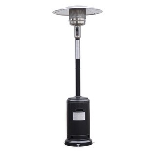 Costway Steel Outdoor Patio Heater Propane Lp Gas W/accessories (Black)