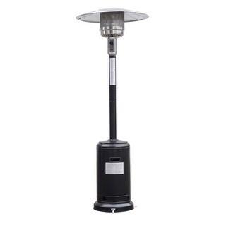 Costway Steel Outdoor Patio Heater Propane Lp Gas W/accessories (Black) - Black