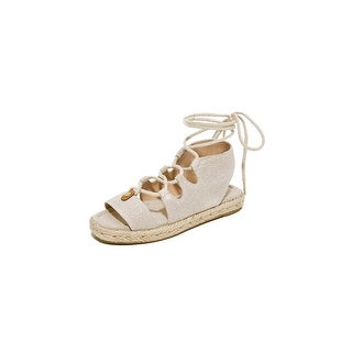 Michael Kors Mckenna Womens Natural Lace Up Gladiator Sandals