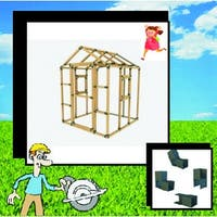 8X8 E-Z Frame Playhouse Kit