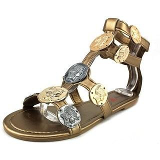 Penny Loves Kenny Trojan Women Open Toe Synthetic Bronze Gladiator Sandal