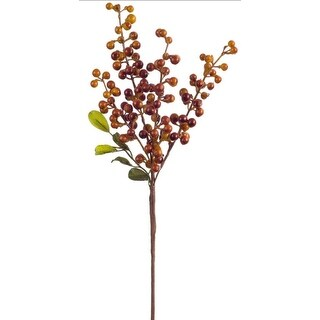 """Club Pack of 24 Holiday Decorative Indoor Burnt Yellow and Purple Berry Pick 18.5""""H"""