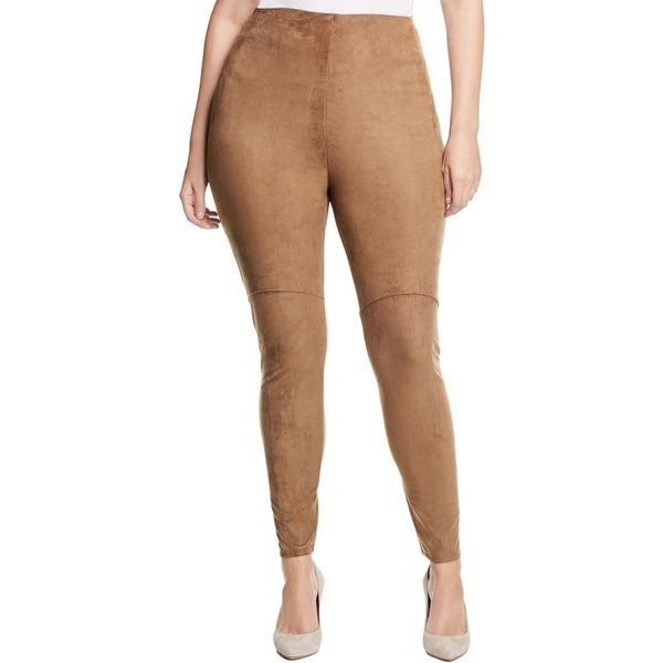 bf198792ab2a6 Shop Lysse Womens Plus Leggings Faux Suede Skinny - Free Shipping On Orders  Over $45 - Overstock - 18416334