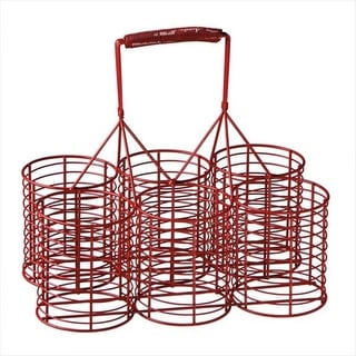 """Pack of 2 Red Hot Six Drink Holder Caddies 11"""""""