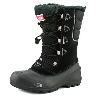 The North Face Shellista Lace II Youth Round Toe Suede Black Winter Boot