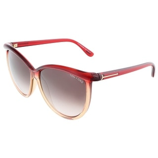 Tom Ford FT0296/S 68F JOSEPHINE Transparent Red Honey Oversized sunglasses