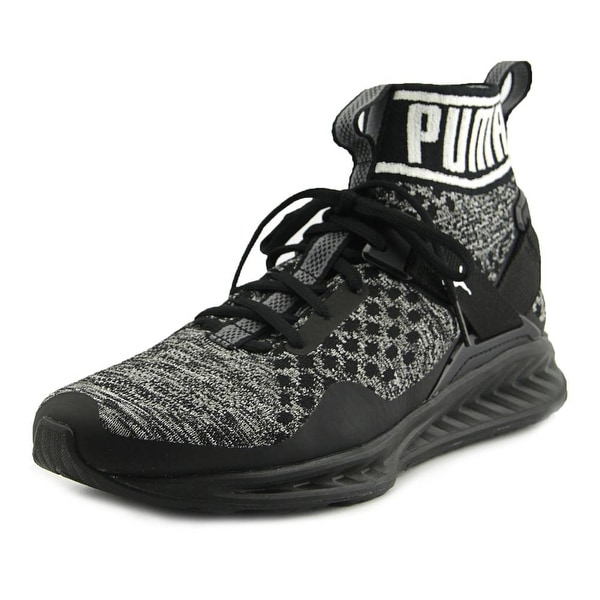 Puma Ignite EvoKnit Men Round Toe Canvas Black Sneakers