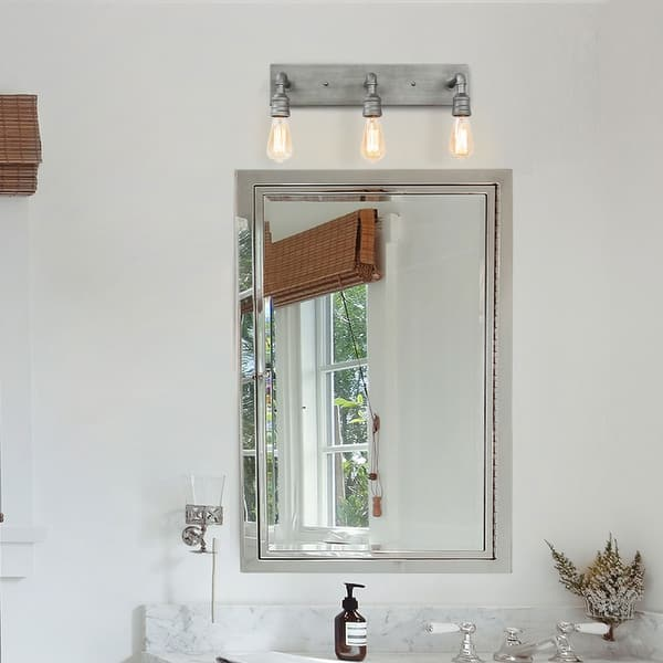 Carbon Loft Elliot 3 Light Bathroom Vanity Lights Wall Sconce Silver Wall Lamp W22 2 H6 7 E6 3 Overstock 28873312
