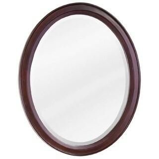 Jeffrey Alexander MIR067 Mahogany Collection Oval 22 x 27-1/4 Inch Bathroom Vanity Mirror