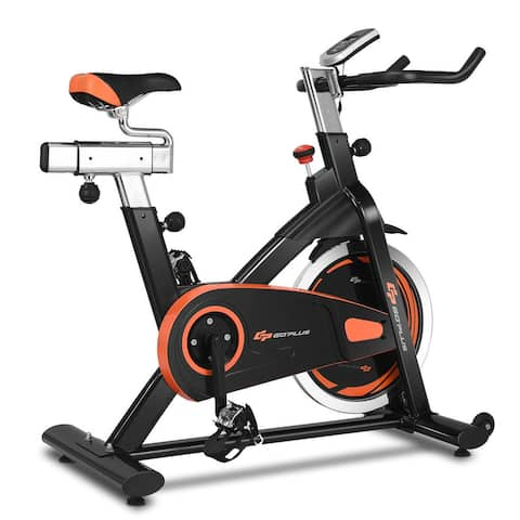 Goplus Exercise Bike Cycle Trainer Indoor Workout Cardio Fitness