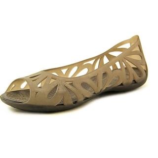 Crocs Adrina III Women Round Toe Synthetic Brown Ballet Flats