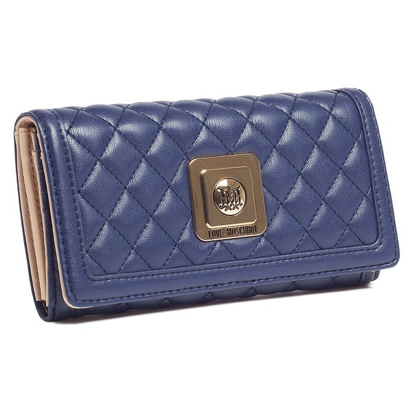 Moschino JC5535 0752 Navy Blue Compact Envelope Wallet - 5.8-4-1.4
