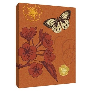 "PTM Images 9-154623  PTM Canvas Collection 10"" x 8"" - ""Orchard Seeker"" Giclee Butterflies Art Print on Canvas"