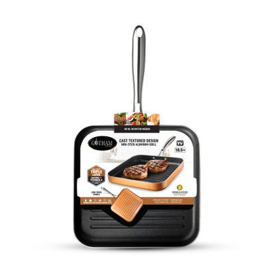 Gotham Steel Copper Cast Textured 10.5 inch Grill Pan - 10.5 inch