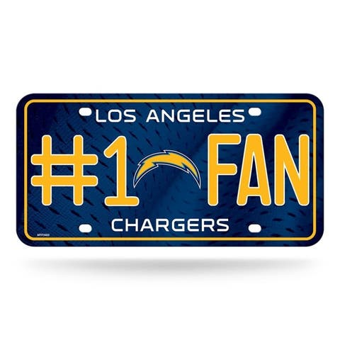 """Los Angeles Chargers License Plate #1 Fan - 6""""x12"""""""