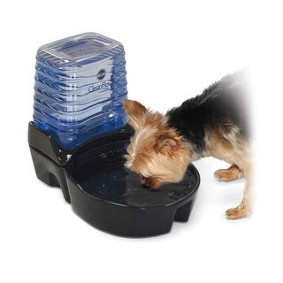 """K&H Pet Products CleanFlow Dog Ceramic Fountain with Reservoir 170 oz. Small Black 11.5"""" x 9"""" x 10.5"""""""