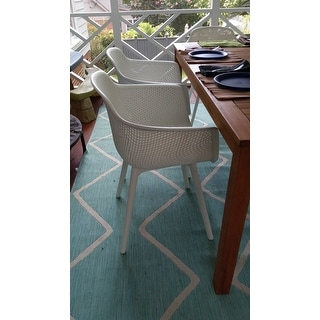 Lotus Outdoor Modern Dining Chair (Set of 2) by Christopher Knight Home