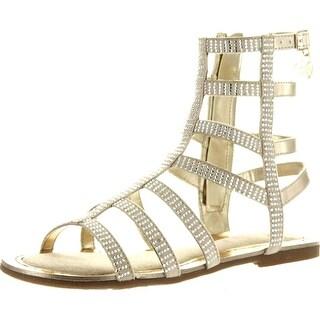 Stuart Weitzman Girls Camia Gladiator Low Designer Sandals