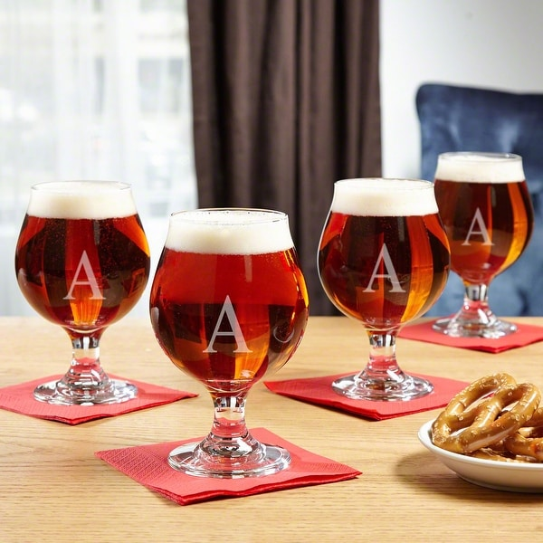 Classic Personalized Beer Snifter Set of 4. Opens flyout.